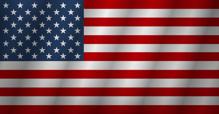 Flag american background. Flag usa isolated. Vector illustration