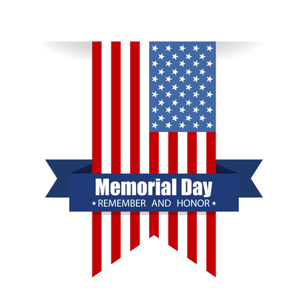Memorial day. Remember and honor text. Vector illustration Vector Illustration