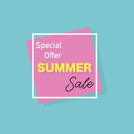 Summer banner Special offer. Stylish design. Vector illustration