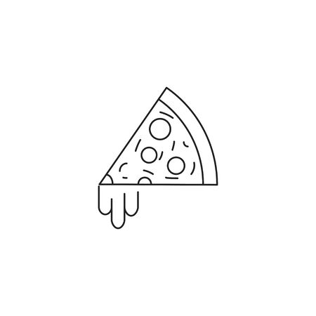 Pizza icon vector Фото со стока - 128627342