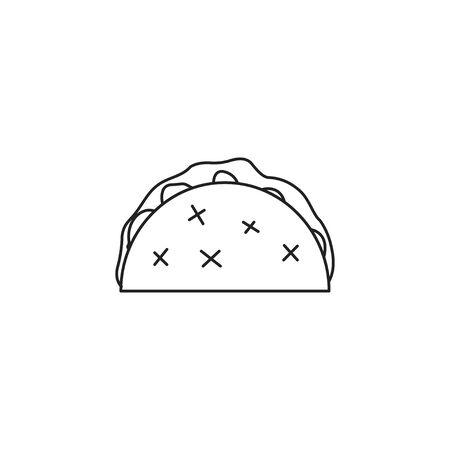 icon cheburek vector