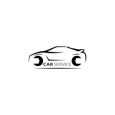 Auto car service vector illustration. Isolated vector template.