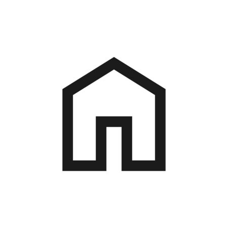Flat outline vector isolated illustration of homepage. Home house object shape. Illusztráció