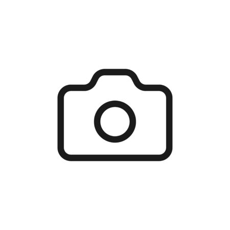 Modern photo camera outline isolated icon, great illustration design for any purposes. Ilustracja