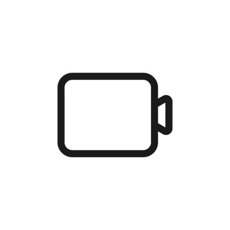 Video camera outline isolated icon, great design for any purposes. Creative record device shutter media symbol. Vector button.