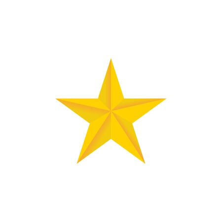 Vector illustration isolated of gold star. Vector template. Christmas greeting concept. Ilustrace