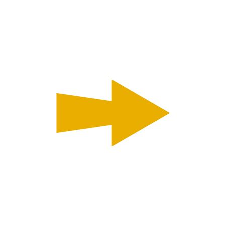 Modern yellow arrow, great design for any purposes. Art vector illustration. Simple isolated pictogram.