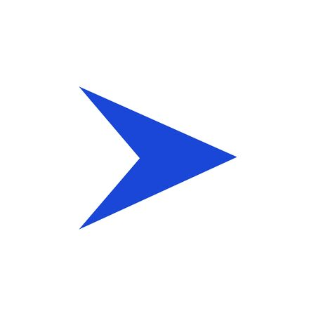 Modern flat colored arrow, great design for any purposes. Art vector illustration. Simple isolated pictogram. Ilustração