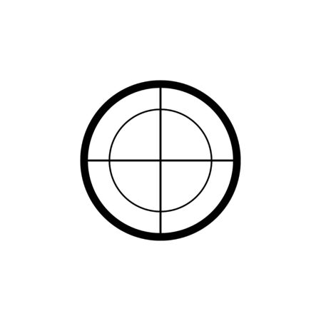 Aim target vector isolated icon. Sniper scope cross. Optical view.