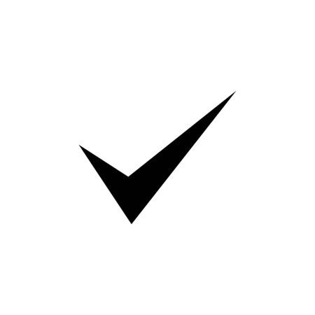 Approved black mark illustration on white background. Creative vector isolated element.