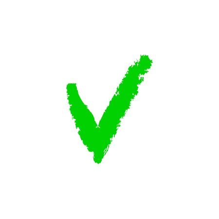 Approved green mark illustration on white background. Creative vector isolated element. Ilustrace