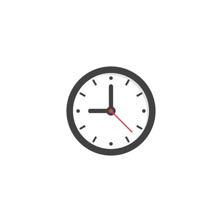 Clock icon drawing element. Time set. Clock icon. Clock in flat style. vector icon. Time vector collection. Vector illustration Illustration