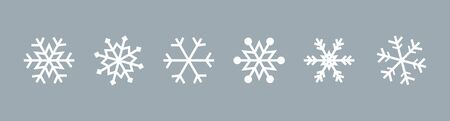 Snowflake set on isolated background. Isolated snowflake collection. Frost background. Christmas icon. Vector illustration