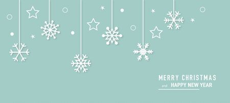 Christmas card with snowflake border vector. Xmas snow flake pattern. Festive christmas card. Isolated illustration white background.