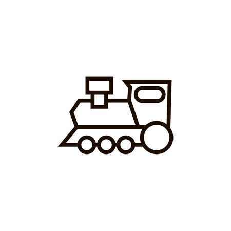 Train outline icon vector in linear style isolated illustration on white background. Illustration