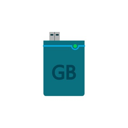External hard drive vector isolated icon. Hdd storage flat symbol illustration.
