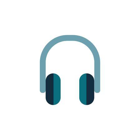 Headphones icon vector flat modern isolated illustration on white background. Ilustrace