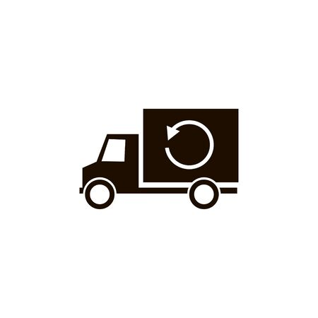 Truck reload icon isolated vector outline illustration.