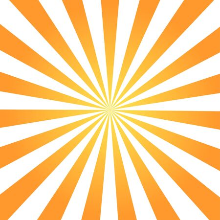Color rays retro abstract design template with orange on white background for decoration design. Vektorové ilustrace