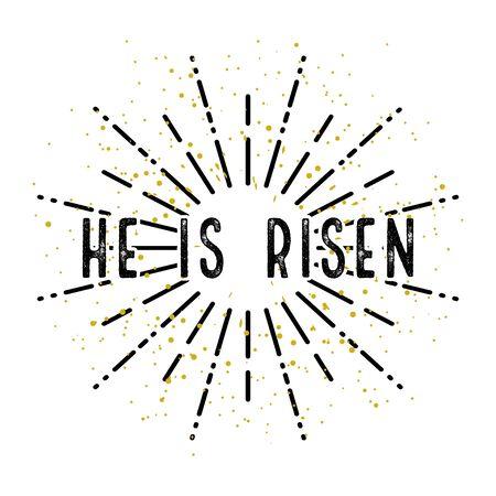 Illustration for Easter Christ is Risen. White background. Vector illustration
