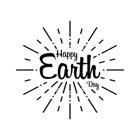 Happy earth day in handwriting style. Vector illustration Earth Day. 22 april