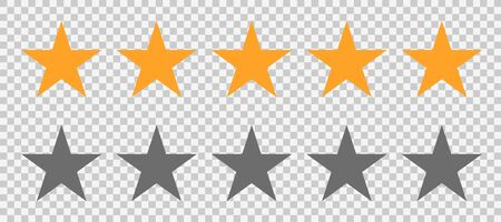 Rating stars icon. Star or 5 rate review. Vector web symbol. Ranking symbol on isolated background