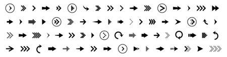 Arrows set icon. Arrows set vector illustration. Arrow icon. Arrow black colored. vector icon. Arrows vector collection. Vector illustration