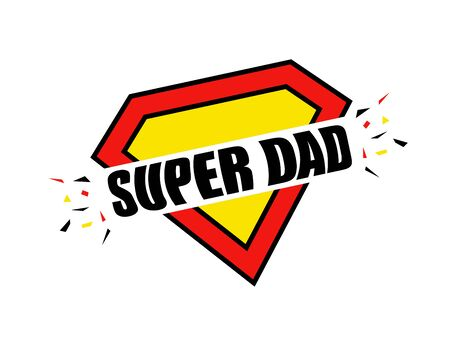 Father's Day, Super Dad Calligraphy greeting cards set. Vector illustration with hand draw lettering. Vector