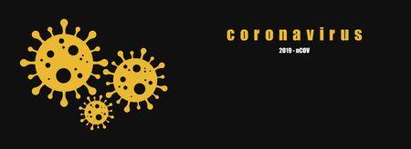 Coronavirus icon, 2019-nCoV. Dangerous Coronavirus Cell . Vector background. Coronavirus symbol