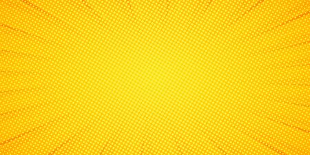 Comic Pop art background. Pattern yellow colored. Comic sunbeam background. Vector illustration. EPS 10