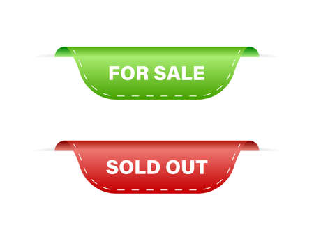 Set of sale tags for sale and sold out. Sale symbol. Vector Ilustrace