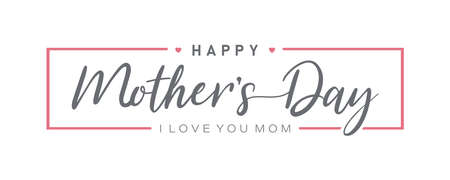 Happy Mother's Day. Mother day poster. Vector illustration for women's day, shop, discount, sale, flyer, decoration. Lettering style. Ilustrace