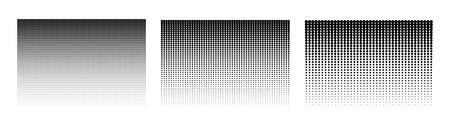 Halftone gradient. Dotted background. Set of halftone backgrounds. Vector illustration Ilustrace