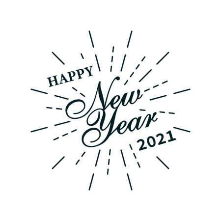 Happy new year 2021 design. Happy new year card design. Typography design. Happy New Year Banner with 2020 Numbers. Vector illustration