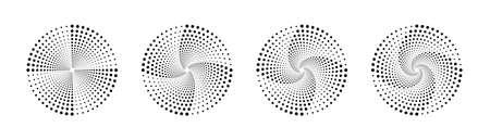 Halftone vortex. Halftone. Dotted background. Set of halftone vortexs. Vector illustration Ilustrace