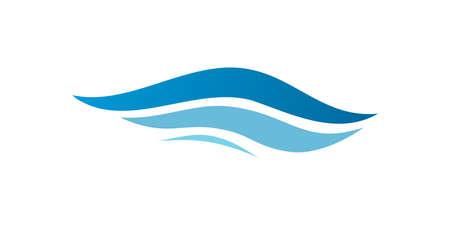 Wave symbol. Waves logo. Wave vortex icon. Vector illustration