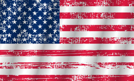 Flag usa. Background for Memorial day and veteran day. Flag attrition us. Memorial day. Flag america. Vector illustration Ilustrace