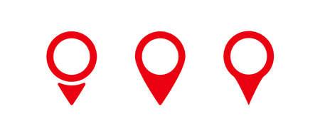 Pointer location. Pointer icon. Pin icon. Popular pointer icons. Location map icon. Gps pin symbol. Vector illustration