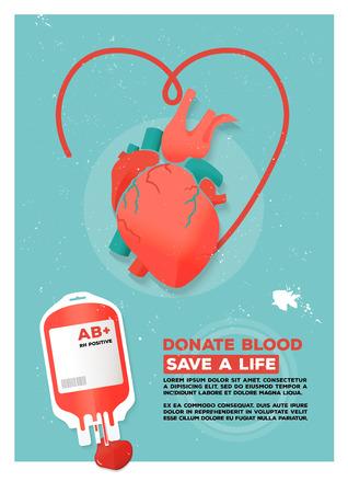 donacion de organos: Ilustraci�n del vector del cartel de donantes creativo.