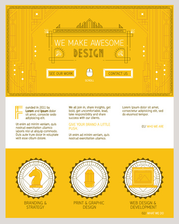 slider: Flat colorful design of slider image concept, site element layout. About us typography.