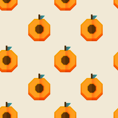 Vector seamless pattern with apricot half.