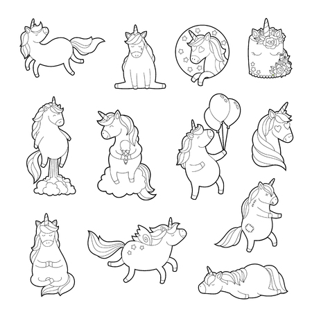 Magic Unicorn For Adult Coloring Pages Trendy Sticker Pack Teenage Pin Set