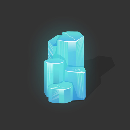 Magic crystal vector icon. Game award and wealth icon, jewelry and money
