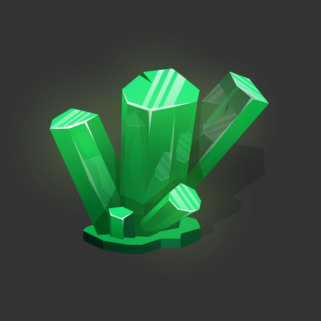 Magic crystal vector icon. Game award and wealth icon, jewelry and money. 向量圖像