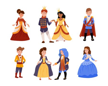 Children at a costume ball, dressed as kings and queens, dancing in pairs. Little prince.