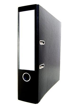 black business folders isoladed on white background                                     Stock Photo