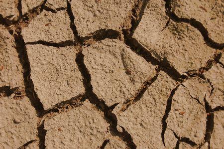 evaporarse: un disparo de suelo seco sobre el terreno