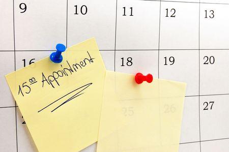 almanak: close-up van een eenvoudige kalender pagina.