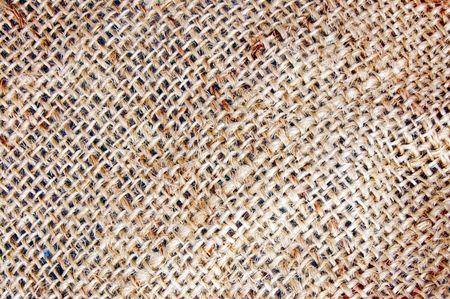 sacco juta: texture di sfondo di una tela di sacco di caff�. Archivio Fotografico