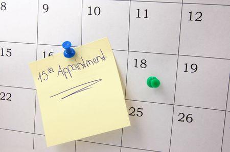 quarterly: close up of a simple calendar page.